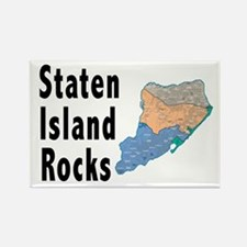 Staten Island Rocks Rectangle Magnet