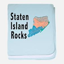 Staten Island Rocks baby blanket