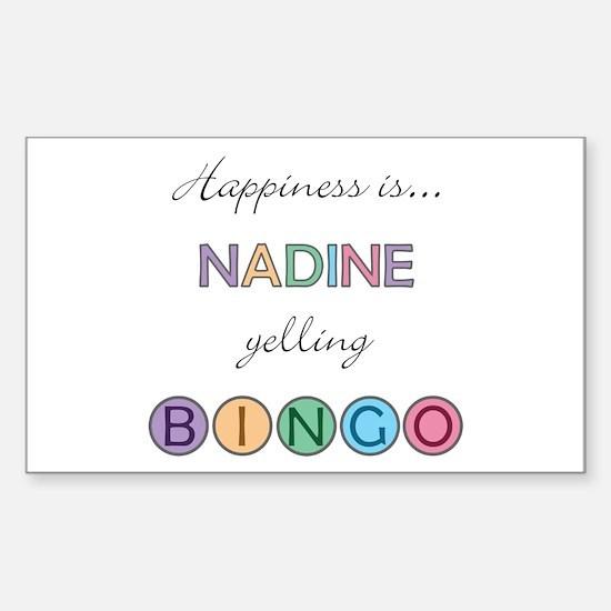 Nadine BINGO Rectangle Decal