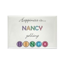 Nancy BINGO Rectangle Magnet