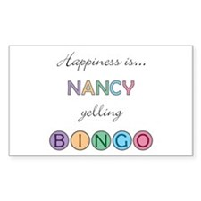 Nancy BINGO Rectangle Decal