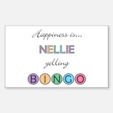Nellie BINGO Rectangle Decal