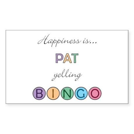 Pat BINGO Rectangle Sticker