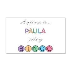 Paula BINGO 22x14 Wall Peel