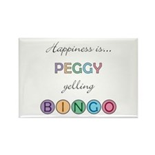Peggy BINGO Rectangle Magnet