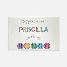 Priscilla BINGO Rectangle Magnet
