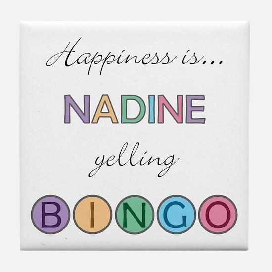 Nadine BINGO Tile Coaster