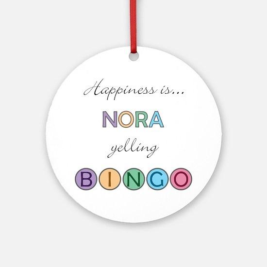Nora BINGO Round Ornament