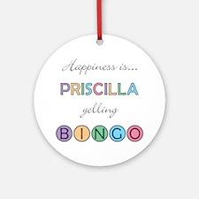 Priscilla BINGO Round Ornament