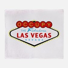 Occupy Las Vegas Throw Blanket
