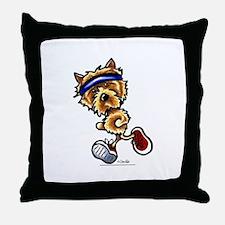 Norwich Terrier Running Throw Pillow
