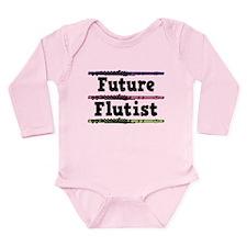 Future Flutist Music Long Sleeve Infant Bodysuit