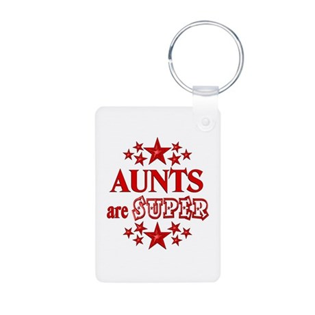 Super Aunt Aluminum Photo Keychain