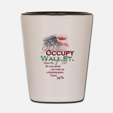 Occupy Wall St. Shot Glass