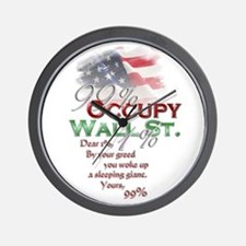Occupy Wall St. Wall Clock