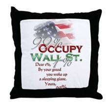 Occupy Wall St. Throw Pillow