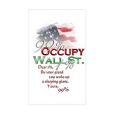 Occupy Wall St. Decal