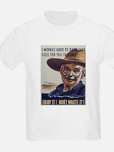 I Worked Hard Farmer (Front) Kids T-Shirt