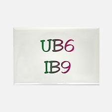 UB6 IB9 Gift Rectangle Magnet