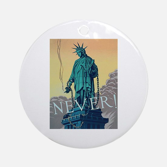 Statue of Liberty Freedom Ornament (Round)