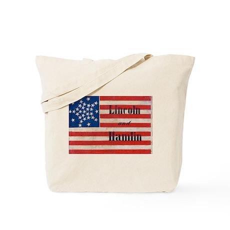 Lincoln and Hamlin Tote Bag