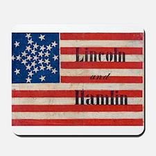 Lincoln and Hamlin Mousepad