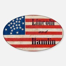 Lincoln and Hamlin Sticker (Oval)