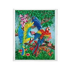 Unique Birds of paradise Throw Blanket