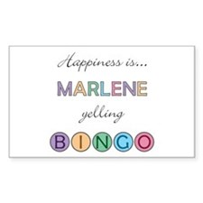 Marlene BINGO Rectangle Decal