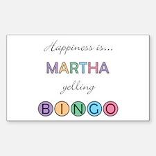 Martha BINGO Rectangle Decal