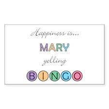 Mary BINGO Rectangle Decal