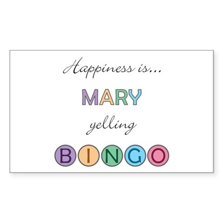 Mary BINGO Rectangle Sticker