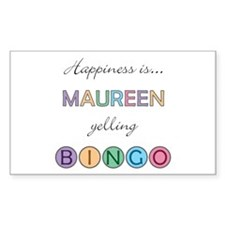 Maureen BINGO Rectangle Decal
