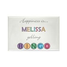 Melissa BINGO Rectangle Magnet