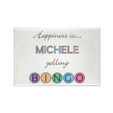 Michele BINGO Rectangle Magnet