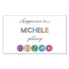 Michele BINGO Rectangle Decal