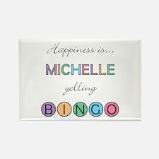 Michelle BINGO Rectangle Magnet