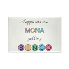 Mona BINGO Rectangle Magnet