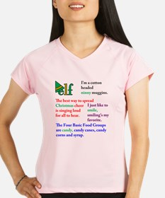 Elf Quotes Performance Dry T-Shirt