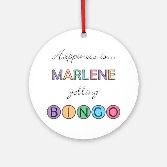 Marlene BINGO Round Ornament