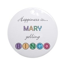 Mary BINGO Round Ornament