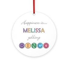Melissa BINGO Round Ornament