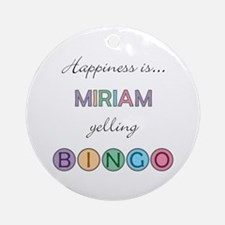 Miriam BINGO Round Ornament