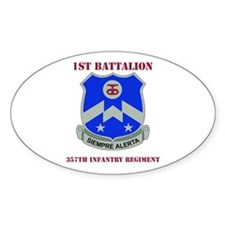 DUI - 1st Bn - 357th Infantry Regt with Text Stick