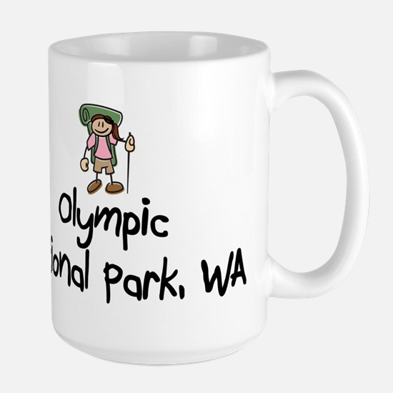 Hike Olympic Nat Park (Girl) Large Mug