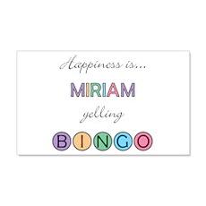 Miriam BINGO 22x14 Wall Peel