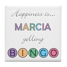 Marcia BINGO Tile Coaster