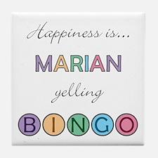 Marian BINGO Tile Coaster
