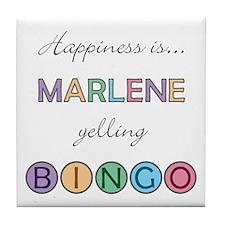 Marlene BINGO Tile Coaster