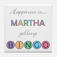Martha BINGO Tile Coaster